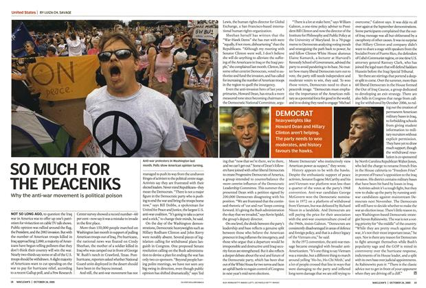 Article Preview: SO MUCH FOR THE PEACENIKS, October 24th 2005 | Maclean's