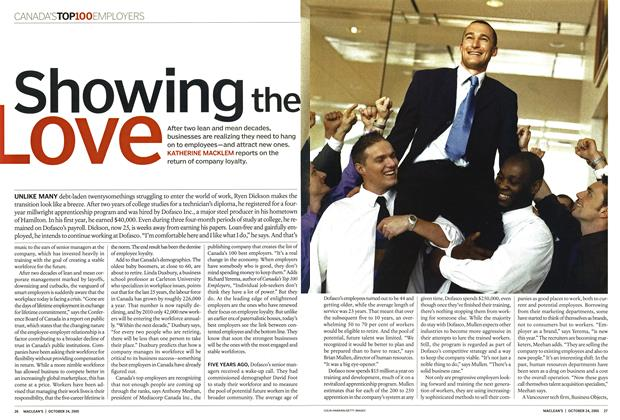 Article Preview: Showing the Love, October 24th 2005 | Maclean's