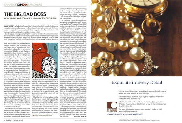 Article Preview: THE BIG, BAD BOSS, October 24th 2005   Maclean's