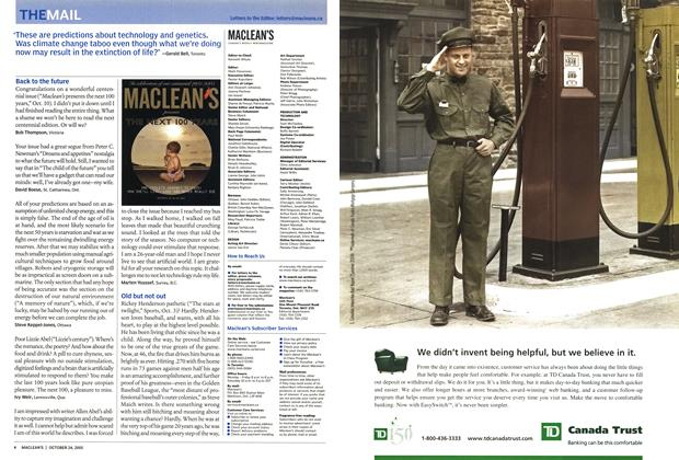 Article Preview: THE MAIL, October 24th 2005 | Maclean's