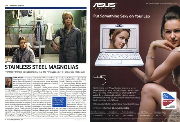 Article Preview: STAINLESS STEEL MAGNOLIAS, October 24th 2005 | Maclean's