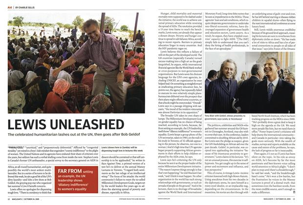 Article Preview: LEWIS UNLEASHED, October 24th 2005 | Maclean's