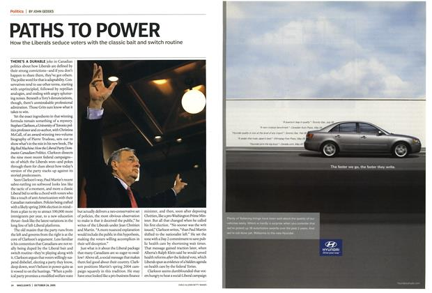 Article Preview: PATHS TO POWER, October 24th 2005 | Maclean's