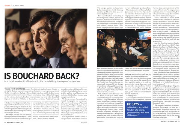 Article Preview: IS BOUCHARD BACK?, October 31st 2005 | Maclean's