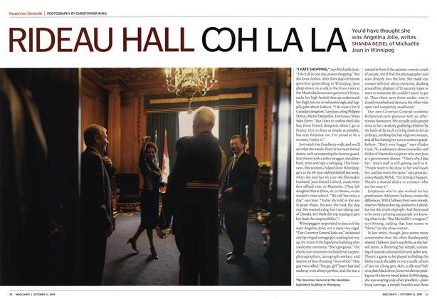 Article Preview: RIDEAU HALL OOH LA LA, October 31st 2005 | Maclean's
