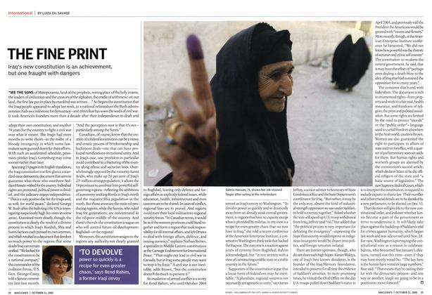 Article Preview: THE FINE PRINT, October 31st 2005 | Maclean's