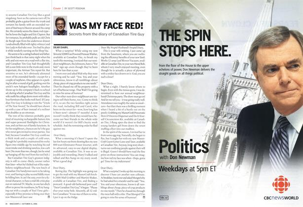 Article Preview: WAS MY FACE RED!, October 31st 2005 | Maclean's
