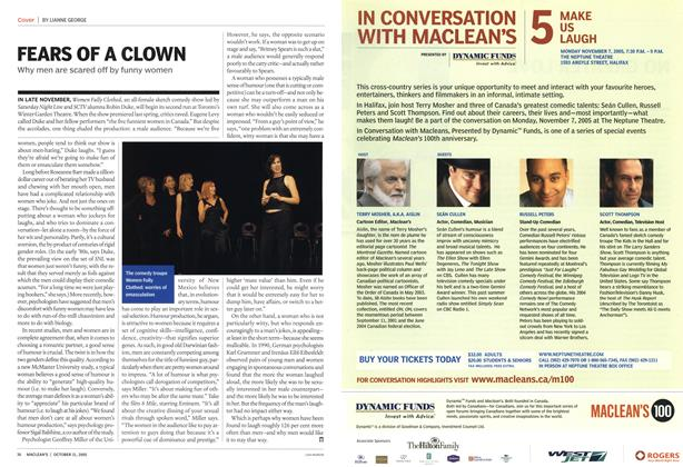 Article Preview: FEARS OF A CLOWN, October 2005 | Maclean's