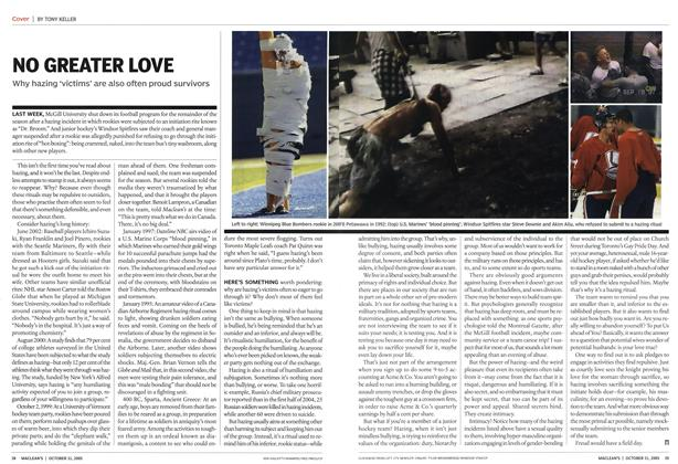 Article Preview: NO GREATER LOVE, October 31st 2005 | Maclean's