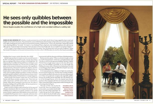 Article Preview: He sees only quibbles between the possible and the impossible, October 31st 2005 | Maclean's