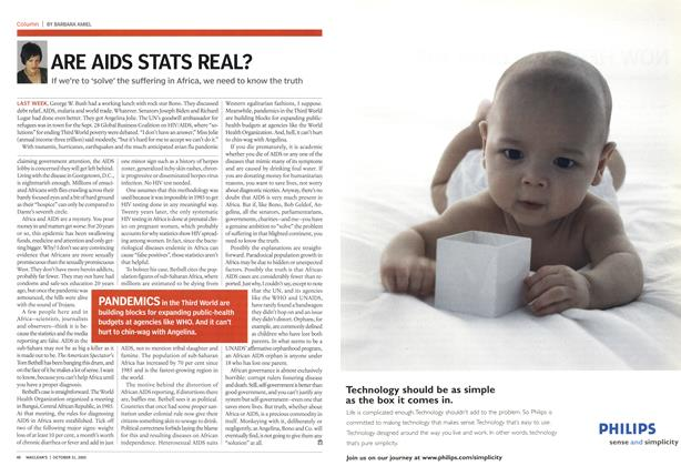 Article Preview: ARE AIDS STATS REAL?, October 31st 2005 | Maclean's