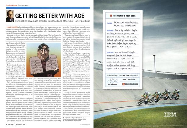 Article Preview: GETTING BETTER WITH AGE, October 31st 2005 | Maclean's