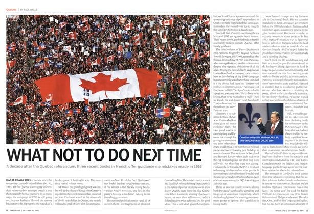Article Preview: WHAT NOT TO DO NEXT TIME, October 31st 2005 | Maclean's