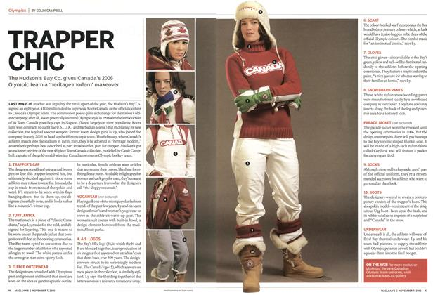 Article Preview: TRAPPER CHIC, November 7th 2005   Maclean's