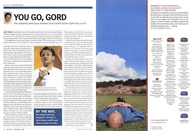 Article Preview: YOU GO, GORD, November 7th 2005 | Maclean's