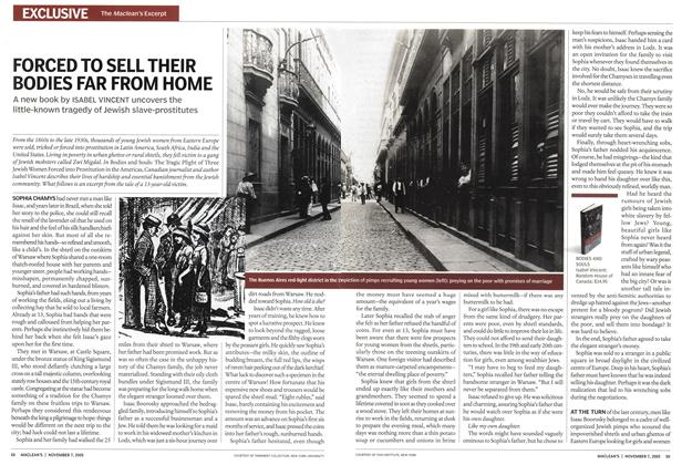 Article Preview: FORCED TO SELL THEIR BODIES FAR FROM HOME, November 7th 2005 | Maclean's