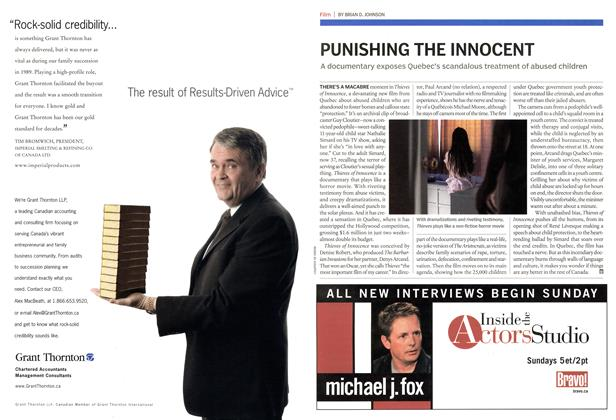 Article Preview: PUNISHING THE INNOCENT, November 7th 2005 | Maclean's