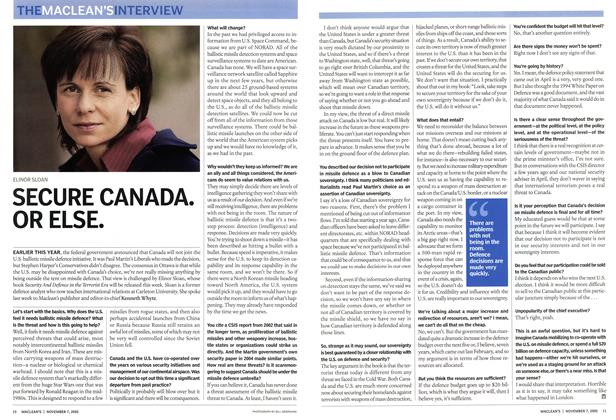 Article Preview: SECURE CANADA. OR ELSE., November 2005 | Maclean's