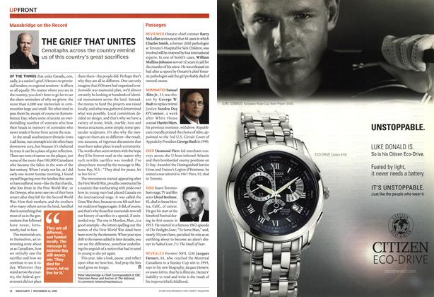 Article Preview: Passages, November 14th 2005 | Maclean's