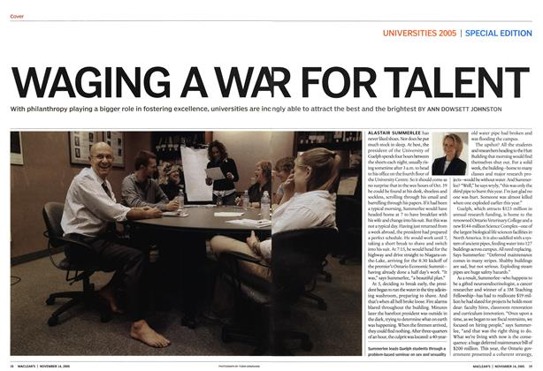 Article Preview: WAGING A WAR FOR TALENT, November 2005 | Maclean's