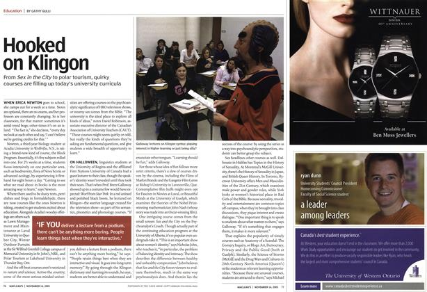 Article Preview: Hooked on Klingon, November 14th 2005 | Maclean's