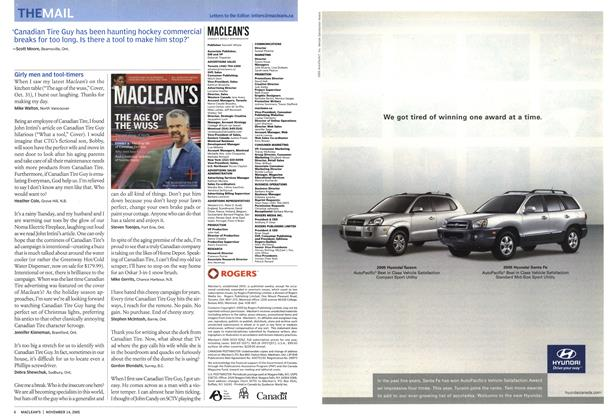 Article Preview: THE MAIL, November 14th 2005 | Maclean's