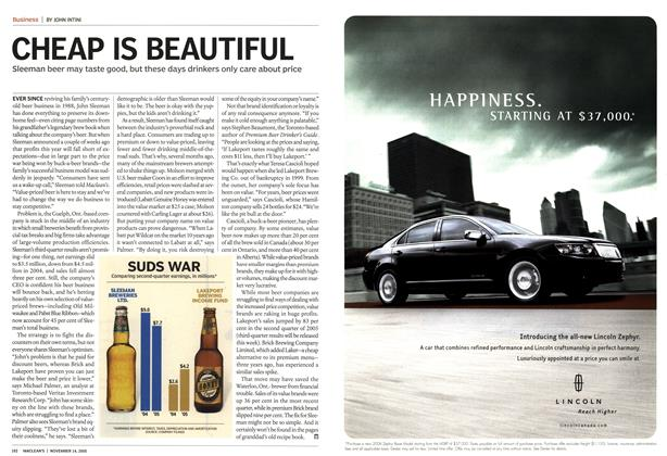Article Preview: CHEAP IS BEAUTIFUL, November 14th 2005 | Maclean's