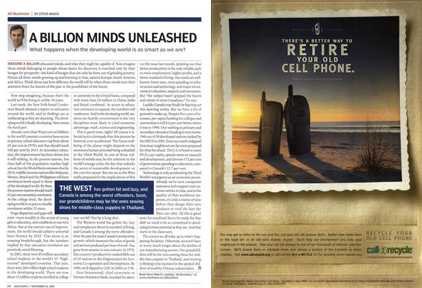 Article Preview: A BILLION MINDS UNLEASHED, November 14th 2005 | Maclean's