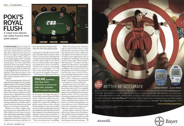 Article Preview: POKI'S ROYAL FLUSH, November 14th 2005 | Maclean's