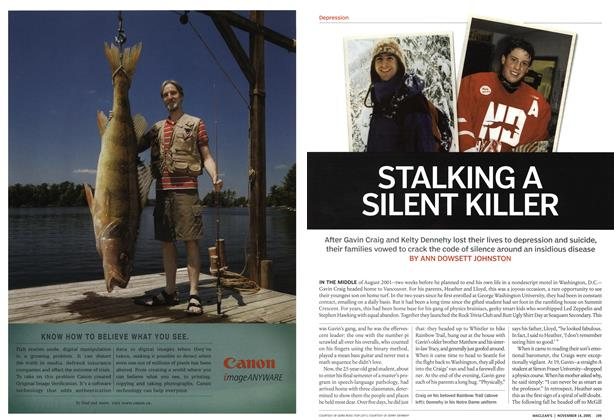 Article Preview: STALKING A SILENT KILLER, November 14th 2005 | Maclean's