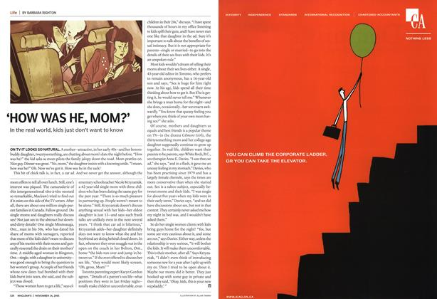 Article Preview: 'HOW WAS HE, MOM?', November 14th 2005 | Maclean's