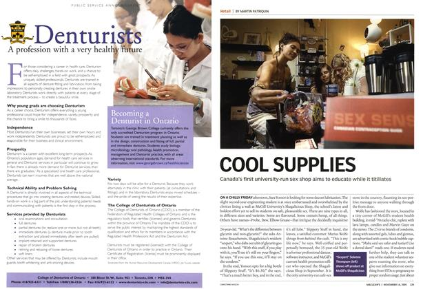 Article Preview: COOL SUPPLIES, November 14th 2005 | Maclean's