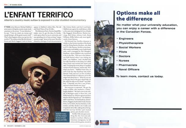 Article Preview: L'ENFANT TERRIFICO, November 14th 2005 | Maclean's