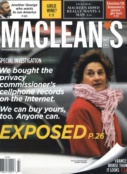 Issue: - NOV.21-28 2005 | Maclean's