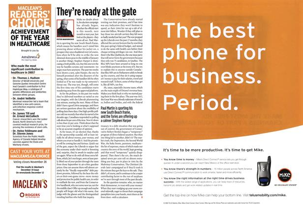 Article Preview: They're ready at the gate, NOV. 21-28 2005 | Maclean's