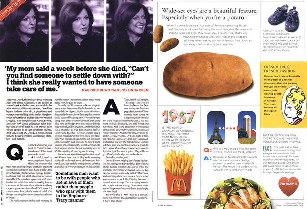 Article Preview: INTERVIEW, NOV.21-28 2005 2005 | Maclean's