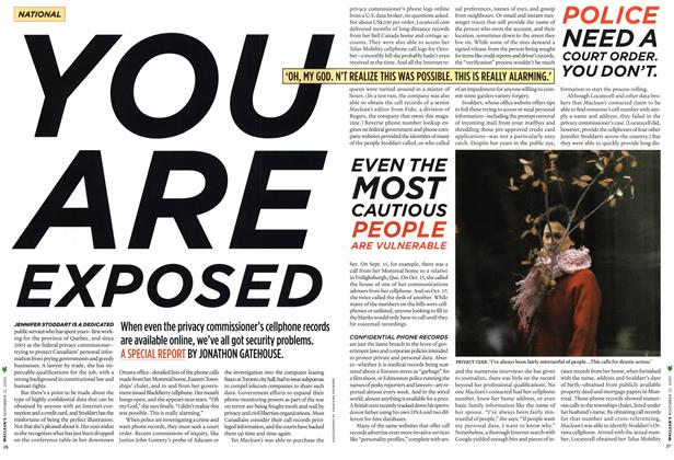 Article Preview: YOU ARE EXPOSED, NOV.21-28 2005 2005 | Maclean's