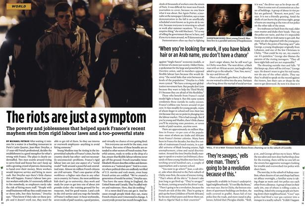 Article Preview: The riots are just a symptom, NOV. 21-28 2005 | Maclean's