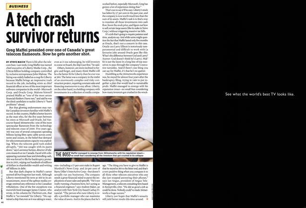 Article Preview: A tech crash survivor returns, NOV. 21-28 2005 | Maclean's