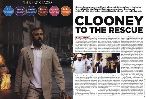 Article Preview: CLOONEY TO THE RESCUE, NOV.21-28 2005 2005 | Maclean's
