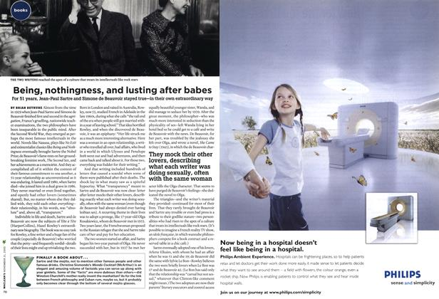 Article Preview: Being, nothingness, and lusting after babes, NOV. 21-28 2005 | Maclean's