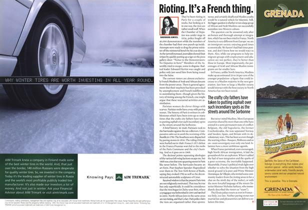 Article Preview: Rioting. It's a French thing., NOV. 21-28 2005 | Maclean's