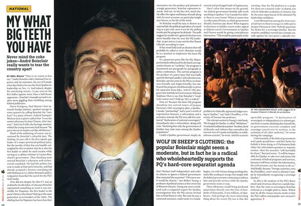 Article Preview: MY WHAT BIG TEETH YOU HAVE, NOV 28-DEC. 5 2005 | Maclean's