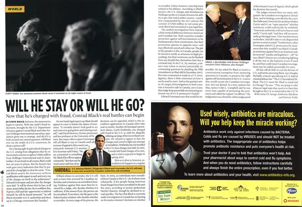 Article Preview: WILL HE STAY OR WILL HE GO?, NOV 28-DEC. 5 2005 | Maclean's