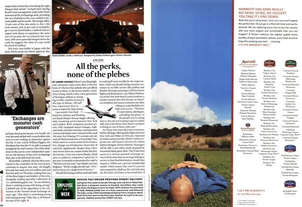 Article Preview: All the perks, none of the plebes, NOV 28-DEC. 5 2005 | Maclean's