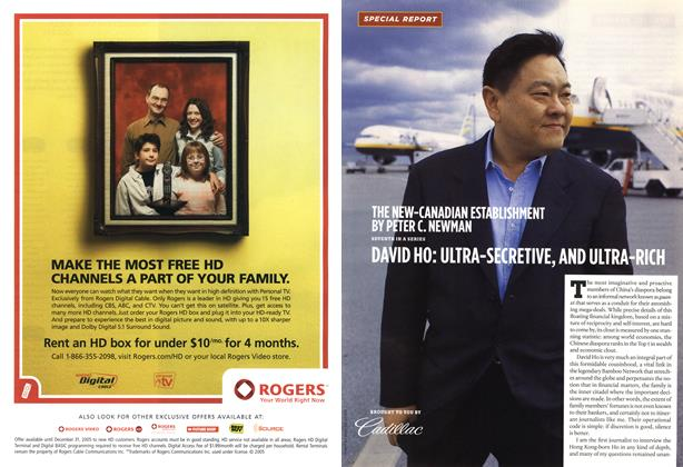 Article Preview: DAVID HO: ULTRA-SECRETIVE, AND ULTRA-RICH, NOV 28-DEC. 5 2005 | Maclean's