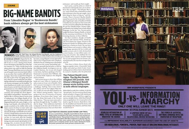 Article Preview: BIG-NAME BANDITS, NOV 28-DEC. 5 2005 | Maclean's
