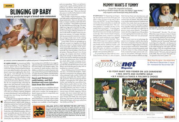 Article Preview: BUNGING UP BABY, NOV 28-DEC. 5 2005 | Maclean's