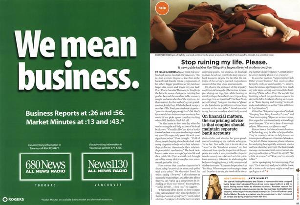 Article Preview: Stop ruining my life. Please., NOV 28-DEC. 5 2005 | Maclean's