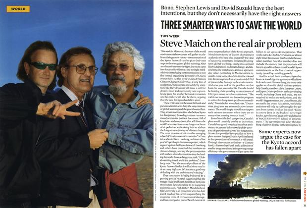 Article Preview: THREE SMARTER WAYS TO SAVE THE WORLD, December 6-12 2005 | Maclean's